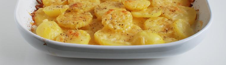 Ovenschotel gratin aardappel slagroom recept bakmuts