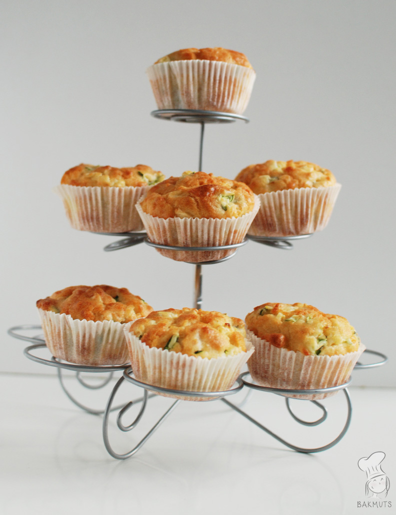 Courgette-kaasmuffins