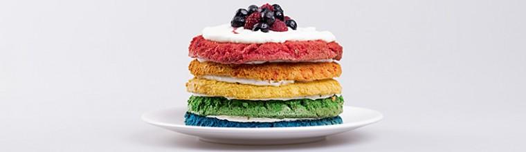 Regenboogcake recept bakmuts