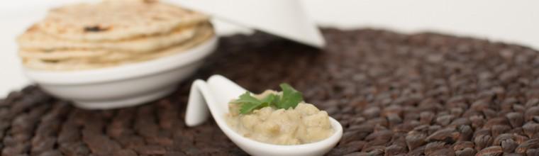 Baba ghanoush met platbrood recept bakmuts