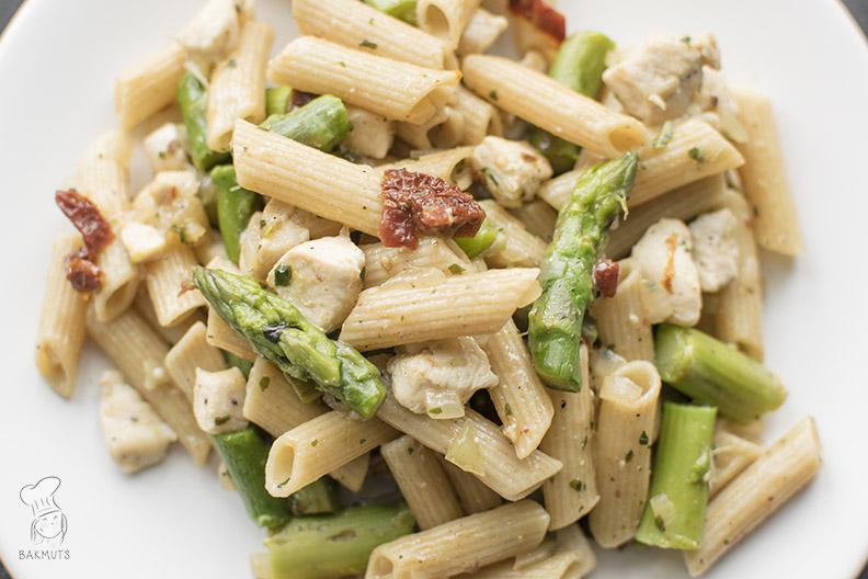 Pasta met asperges en kip_4