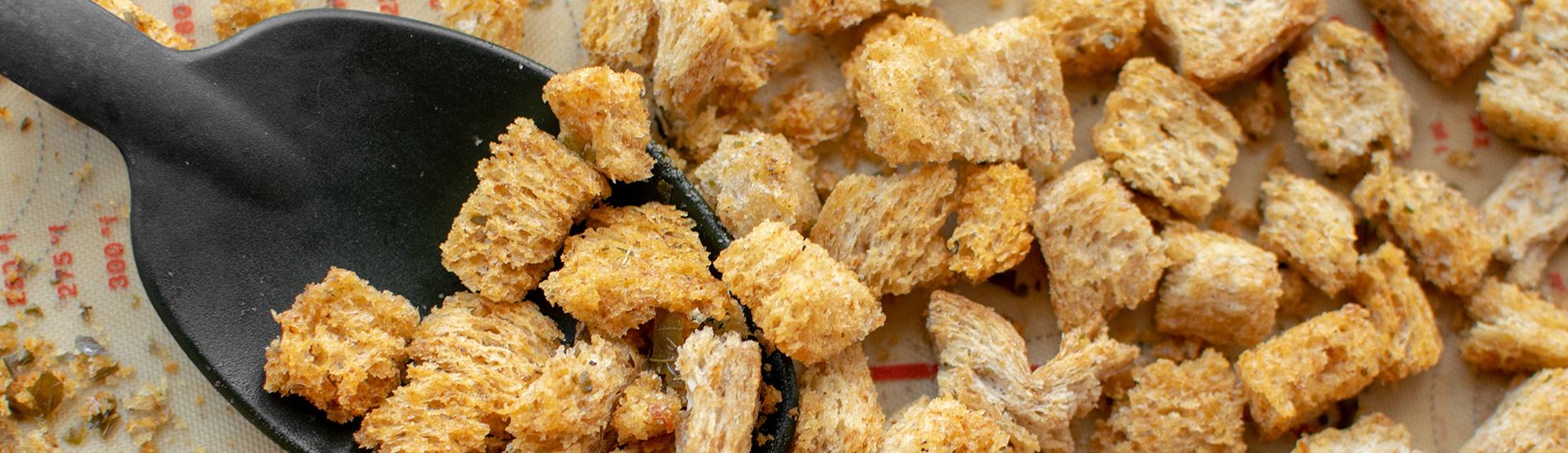 Recept voor zelfgemaakte croutons