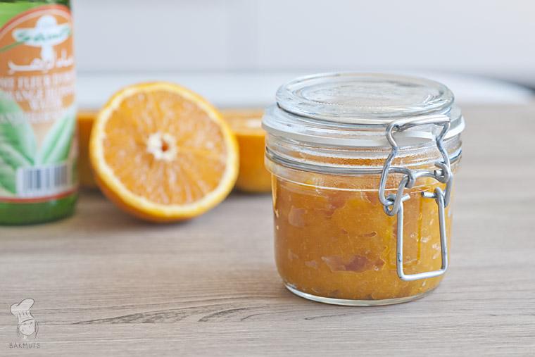 Sinaasappel-abrikozenjam en oranjebloesemwater recept bakmuts