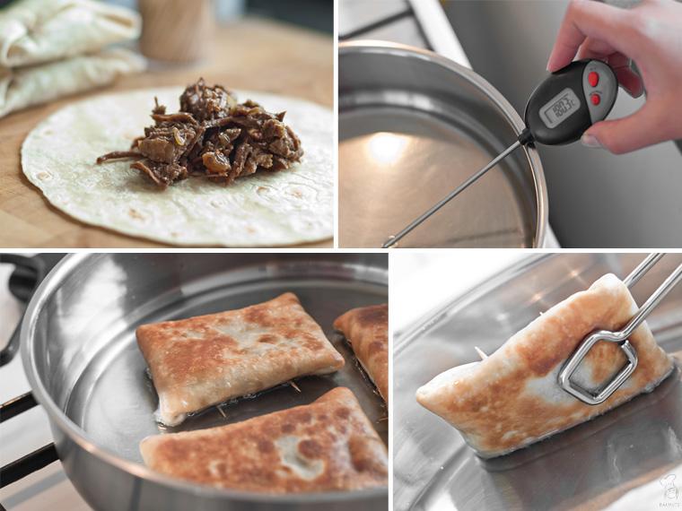 Chimichangas met rundvlees Mexicaans recept bakmuts