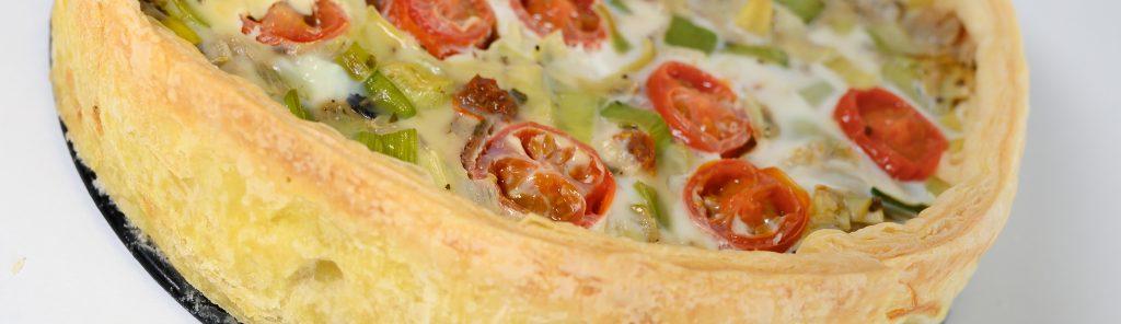 Quiche met prei en tomaten recept van Bakmuts