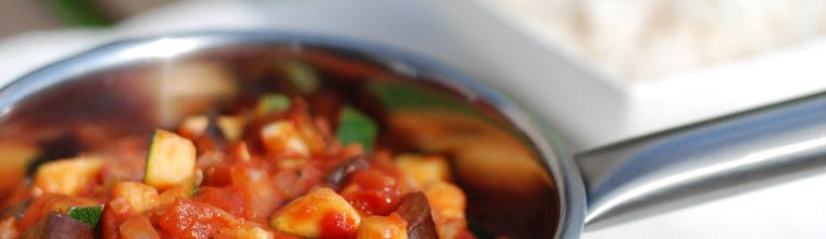 Franse ratatouille met courgette aubergine tomaat paprika recept bakmuts