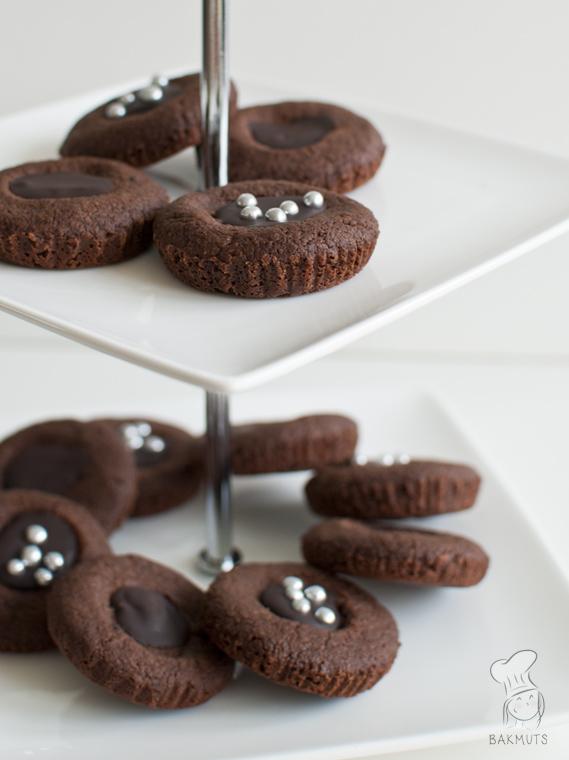 Chocoladekoekjes met ganache recept bakmuts