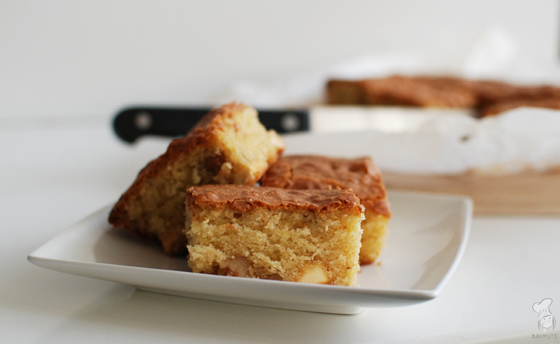 Blondies met witte chocola walnoten recept bakmuts