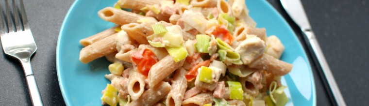 Pasta met prei en een romige saus recept bakmuts