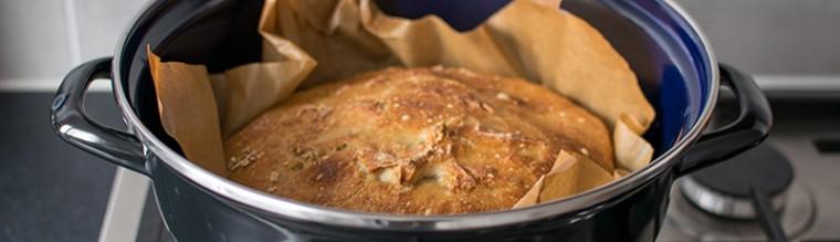 brood zonder kneden uit de pan recept bakmuts