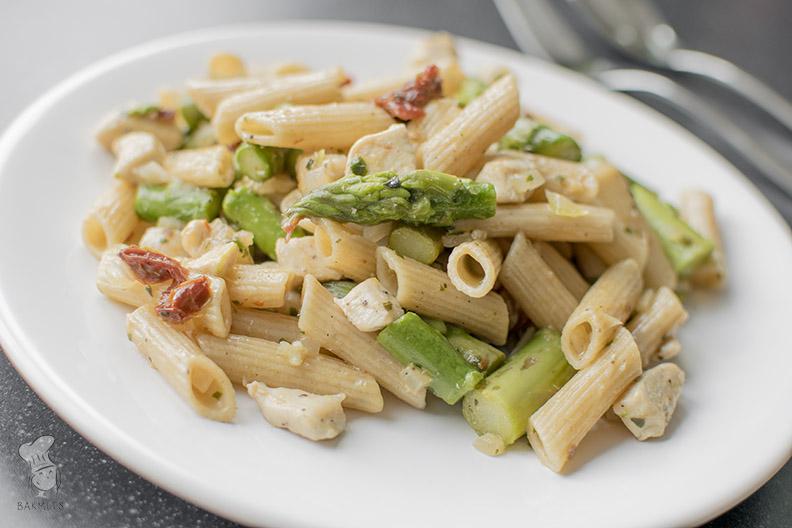 Pasta met asperges en kip_1