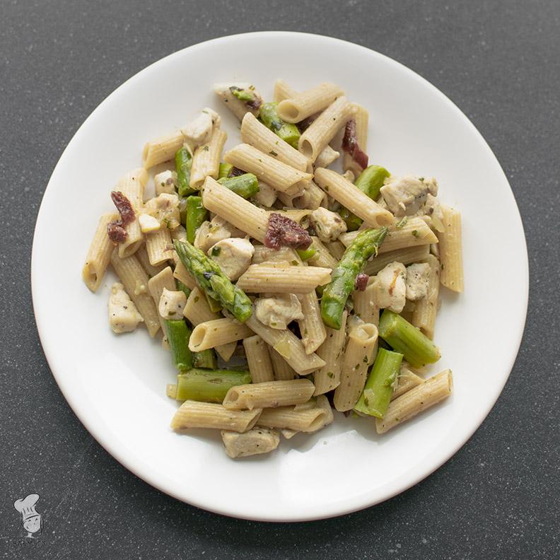 Pasta met asperges en kip_5