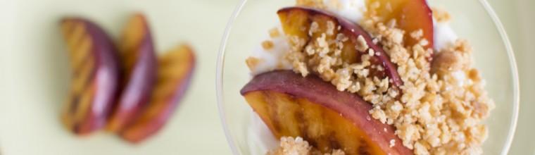 Hangop met gegrilde nectarines recept bakmuts