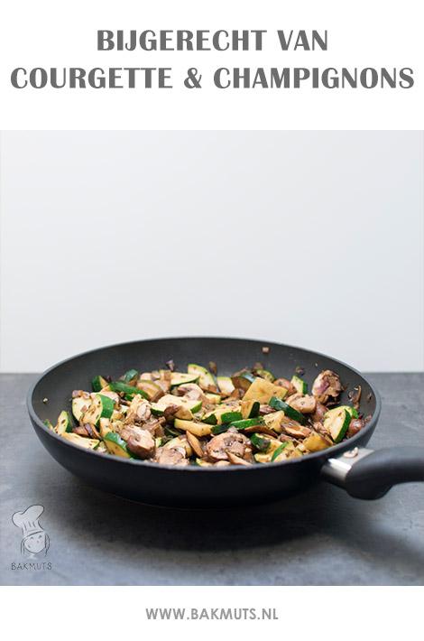 Bijgerecht van courgette en champignons recept Bakmuts