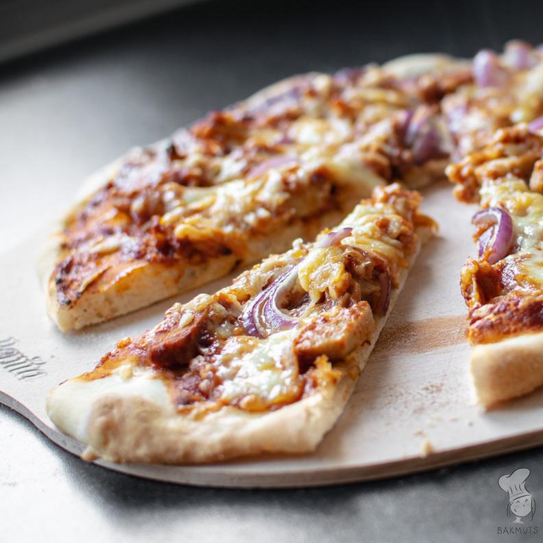 recept pizza bbq chicken bakmuts