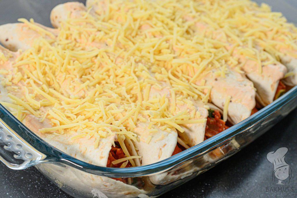 Enchiladas met veel groenten en kip recept van Bakmuts