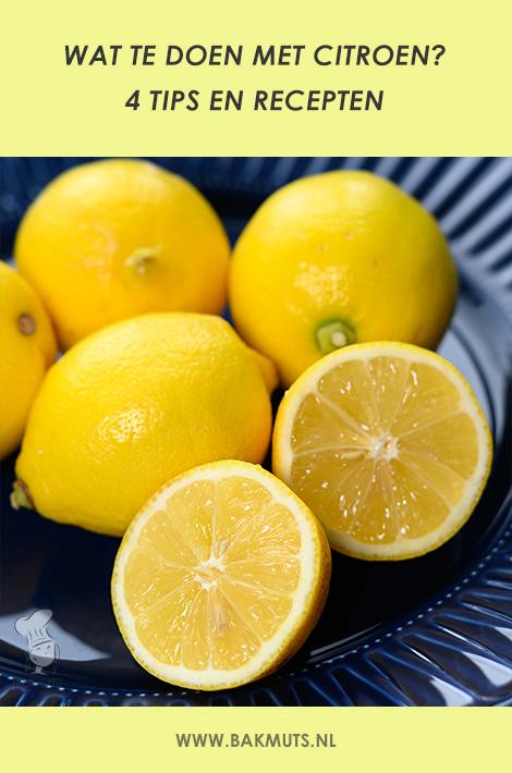 Wat te doen met citroen - recept van Bakmuts