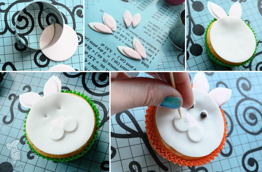 Zelf paashaas cupcakes maken recept van Bakmuts