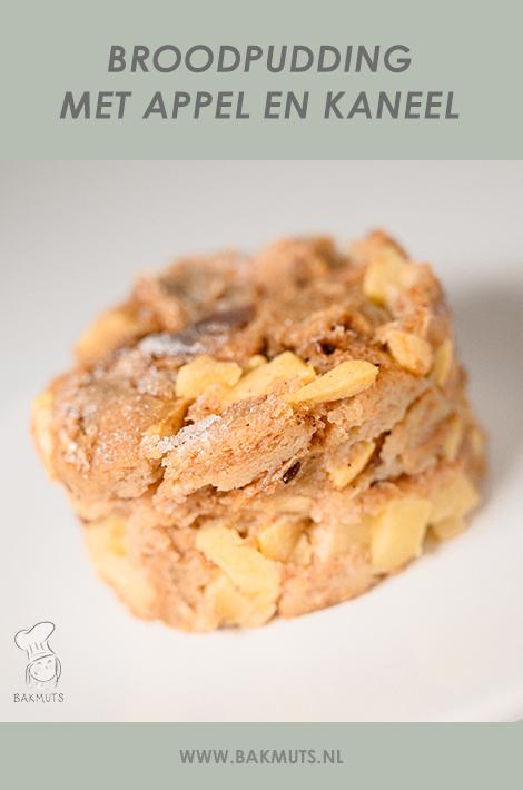 Broodpudding met appel en kaneel recept van Bakmuts
