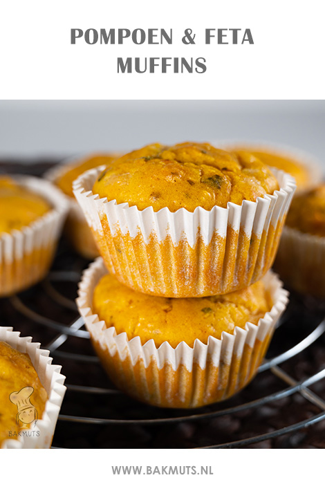 Hartge muffins met pompoen en feta recept van Bakmuts