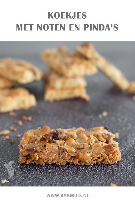 Koekjes met gemengde noten en pinda's - recept van Bakmuts