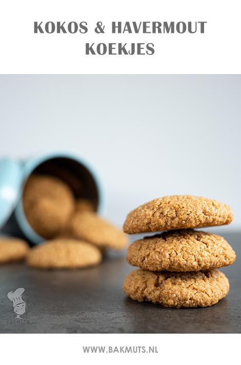 Recept voor koekjes met kokos en havermout - recept van Bakmuts
